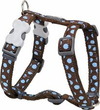 Red Dingo Spot Design Harness BROWN / BLUE for Dog / Puppy   XS - LG   FREE P&P