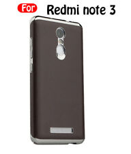 LEATHER BACK CHROME BUMPER Back COVER CASE FOR  XIAOMI REDMI NOTE 3