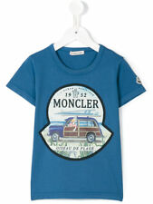 New Moncler Junior Boys 'Duck in Car' T-shirt - Blue - RRP from £65