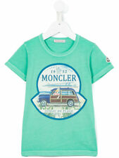 New Moncler Junior Boys 'Duck in Car' T-shirt - Green - RRP from £65