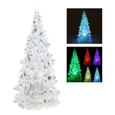 LED que cambia de color artificial de cristal Decoracion de Navidad arbol AC