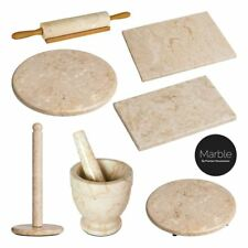 Cream Marble Kitchen Accessory Set Chopping Board Kitchen Roll Holder