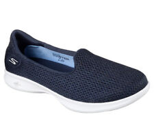 NEW SKECHERS Women Sneakers Slipper Loafer Slip-On Walking GO STEP LITE Navy