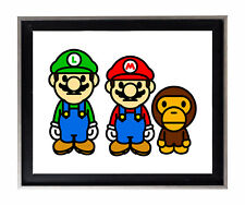 Bape Baby Milo x Mario & Luigi Poster Print ALL SIZES (a bathing ape) #BAPE21