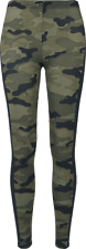 Urban Classics Ladies Camo Stripe Leggings Leggings mimetico bosco/nero