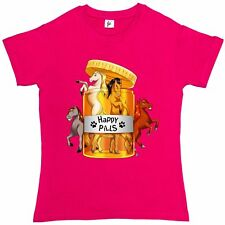 Lovely Horses Mares Stallions Are My Happy Pills Womens Ladies T-Shirt