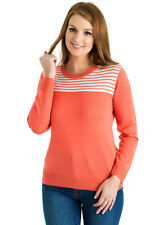 Stripe Detail Round neck Jumper