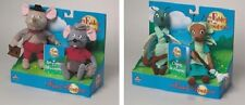 Coffret 2 peluches Los Fábulas de la Fontaine duo animales Cigarra Fourmi y rata