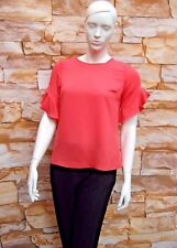 DOROTHY PERKINS CORAL RUFFLE SLEEVE BLOUSE / TOP Sizes 6,8,10,12,14,16