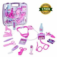 Pretend Play Doctor Medical Kit Toys Set Nurse Role Play for Kids Girls 12 Piece