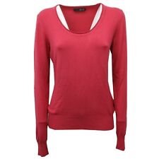 C8594 maglione donna LIU JO WITHOUT LABEL ciliegia rosso sweater woman