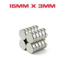 Strong Round Cylinder Magnet 15mm x 3mm Rare Earth Neodymium #Y730