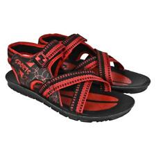 World Wear Footwear Men's Canvas Black Sandals & Floaters (947)