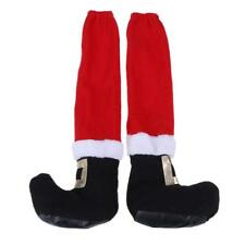 Christmas Table Santa Claus Leg Chair Foot Covers Funny Table Decor New Year ...