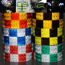 50mm 1-30m Chequered Chequer Reflective Tape Vinyl Self-Adhesive Stickers Roll
