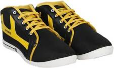 World Wear Footwear Men's Canvas PVC Sole Black Casual Shoes (292)