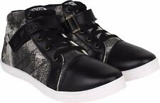 World Wear Footwear Men's Canvas PVC Sole Black Casual Sneakers Shoes (478)