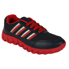 World Wear Footwear Men's Canvas PVC Sole Black Sports Sports Shoes (260)