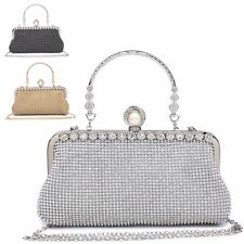 Ladies Diamante Cocktail Party Clutch Bag Bridal Purse Evening Handbag MA35042