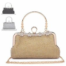 Ladies Diamante Cocktail Party Clutch Bag Bridal Purse Grab Bag Handbag MA35043