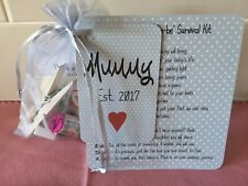 BABY SHOWER, MUM to Be, DAD to BE, SURVIVAL KITS novelty keep sake gift