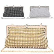 Ladies Diamante Cocktail Party Clutch Bag Bridal Purse Grab Bag Handbag MA35046