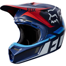 Casque Cross Fox Racing V3 Seca Bleu Yamaha Motocross Helmet Enduro Bon Plan