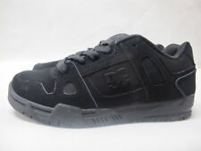 Mens DC Stag Black Skate Shoes Casual Lace Up Leather Trainers