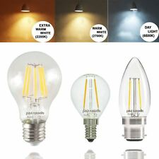 12 X LED 25W/40W/60W/80W Filament Candle Globe GLS Golf Light Bulbs E14 B22 E27