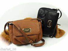 ~ MICHAEL KORS ~ KLEINE TASCHE ~ JET SET ITEM SM CROSSBODY LEDER LUGGAGE/BLACK