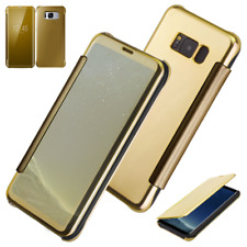 Luxury Gold Mirror Smart View Flip Case Cover for Samsung Galaxy S8 / S8 PLUS