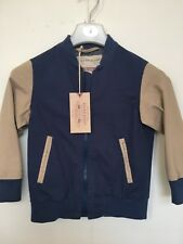 BNWT Debenhams Bomber Jacket. Blue/Beige. Boys. Age 4-14 Years