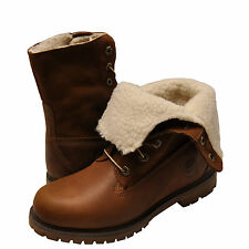 Women's Shoes Timberland Teddy Fleece Fold-Down WP Boot 8328R Tobacco *New*
