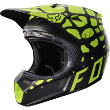 Casque Cross Fox Racing V3 Grav Noir Jaune Motocross Helmet Enduro Moto Bon Plan