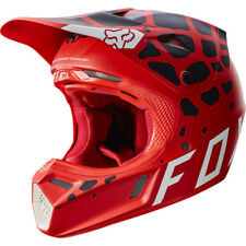 Casque Cross Fox Racing V3 Grav Rouge Motocross Helmet Enduro Moto OUTLET PROMO