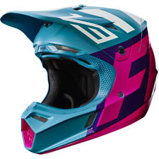 Casque Cross Fox Racing V3 Creo Teal Rose Motocross Helmet Enduro Moto Bon Plan