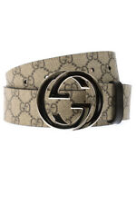 Cintura Gucci Belt % Made In Italy Uomo Beige 411924KGDHN-9643
