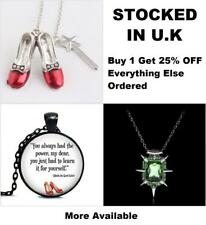 Wizard Of OZ Pendant Dorothy Ruby Slippers Glinda Good Witch of the South