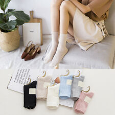 6 Pairs Womens 100% Cotton Soft Candy Color Cute Ankle Dress Casual Warm Socks