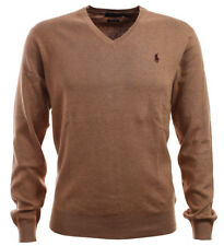 RALPH LAUREN Polo Ralph Lauren Herren Pima Cotton V-Neck Pullover Rye Brown
