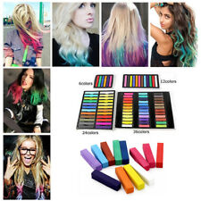 6/24/36 Pack Hair Chalk DIY Easy Temporary Salon Hair Dye Colour Chalk Pastels