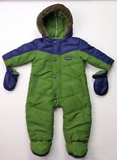 Baby Boys TED BAKER Green/Navy Warm Padded Winter Snowsuit 3-6 & 6-9 Mths VGC