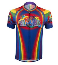 Ride with Pride - Rainbow Cycling Jersey - Peloton Style colorful cycling Jersey