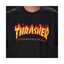 CAMISETA THRASHER FLAME BLACK