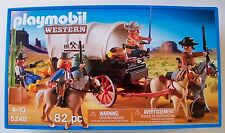 Playmobil  Western COVERED WAGON w/ bandits NEW cowboy 5248 cactus horse