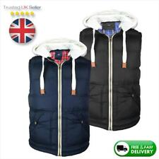Almost Gone! Mens Body Warmer Gilet, Hooded Jacket | Padded/Puffer Style