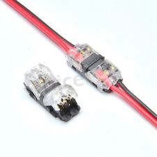 2 Pin I Shape Quick Splice Wire Wiring Terminals Crimp Connectors for 22-20AWG L