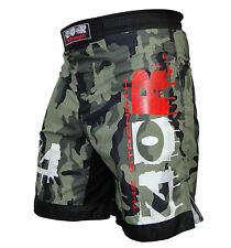 Green Camo MMA Fight Shorts Camouflage UFC Cage Fight Grappling Muay Thai Boxing