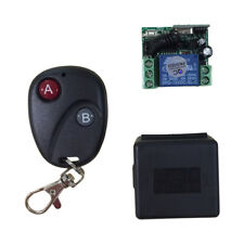 Relay DC12V 7A 1CH Wireless Remote Control Switch Transmitter Receiver System UK