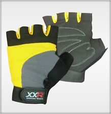 XXR Yellow Padded Cycling Gloves MTB Mountain  Biker Gloves Fingerless Bicycle